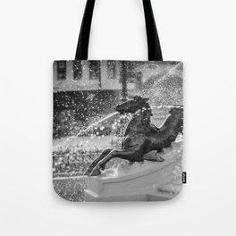 Horse Fountain Sculpture Tote Bag