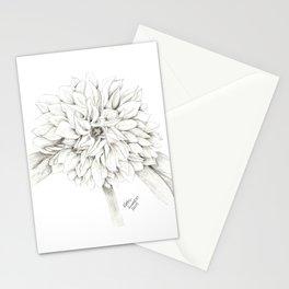 Dahlia Sketch Stationery Cards