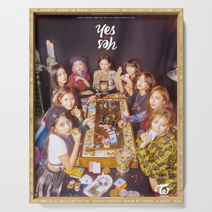 twice yes or yes Serving Tray
