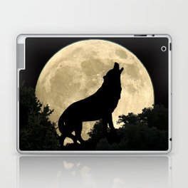Wolf Howling at the Full Moon A303 Laptop & iPad Skin