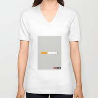 mad men V-neck T-shirts featuring Mad Men - Minimalist by Marisa Passos