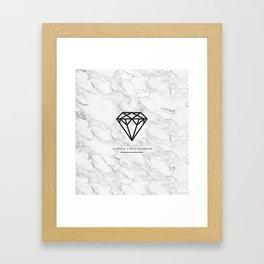 Diamond with Marble Framed Art Print