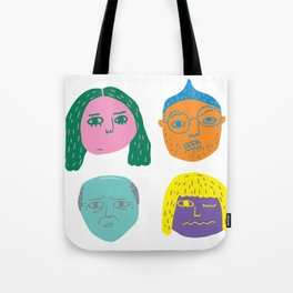 floating heads Tote Bag