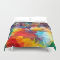 polygon Duvet Covers featuring Polygon JLM by Veronika