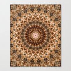 Mandala in brown and golden tones Canvas Print