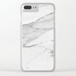 White Marble Clear iPhone Case