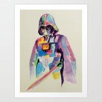 vader Art Prints featuring vader by kuri