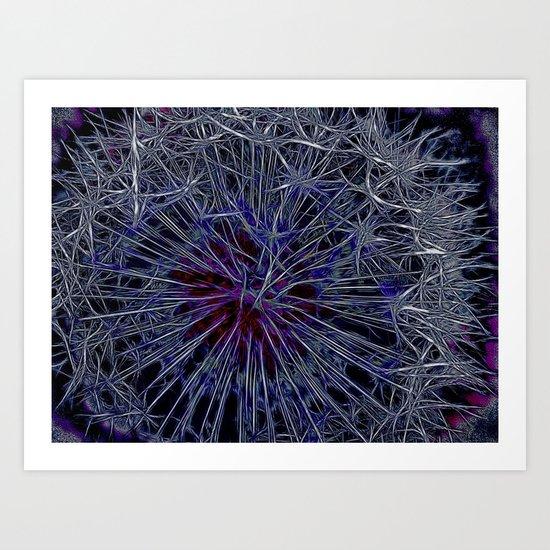 Dandelion Thorns Art Print