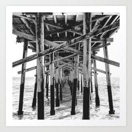 Balboa Pier Print {3 of 3} | Newport Beach Ocean Photography B&W Summer Sun Wave Art Art Print