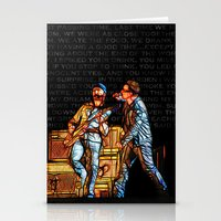 u2 Stationery Cards featuring U2 / Bono / Edge / Until The End Of The World by JR van Kampen