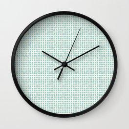 Blue Scribbles Pattern 02 Wall Clock