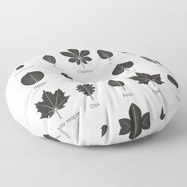 European Tree Leaves Floor Pillow