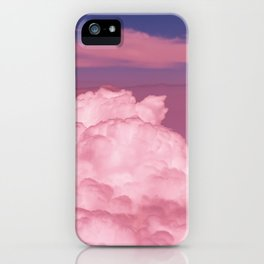 Pink Cotton Candy Clouds iPhone Case
