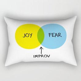 The Venn of Improv (Yellow/Blue) Rectangular Pillow