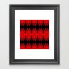 Red Black Diamond Gothic Pattern Framed Art Print
