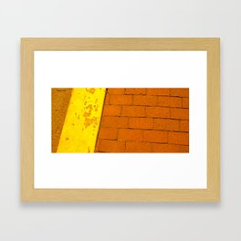 Rusty Sidewalk Framed Art Print