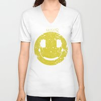 paramore V-neck T-shirts featuring Music Smile V2 by Sitchko Igor
