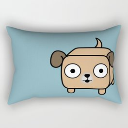 Pitbull Loaf - Fawn Pit Bull with Floppy Ears Rectangular Pillow
