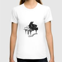piano T-shirts featuring Piano by Azure Cricket