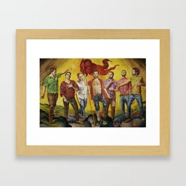 Sorte Framed Art Print