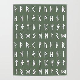 Nordic Runes // Finlandia Green Poster