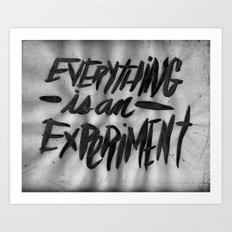 EVERYTHING IS AN EXPERIMENT Art Print