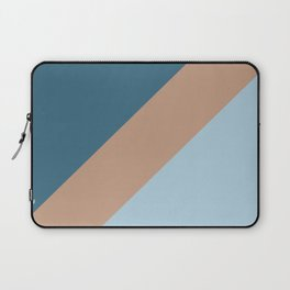 Brown Pastel Blue Minimal Diagonal Stripe Pattern 2021 Color of the Year Canyon Dusk & Accent Shades Laptop Sleeve