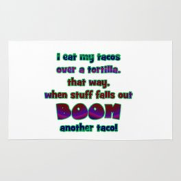 "Funny ""Boom Another Taco"" Joke Rug"