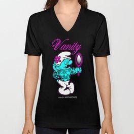 Hipster Vanity Smurf Unisex V-Neck
