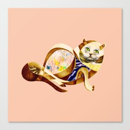 Here Litte Kitty Canvas Print