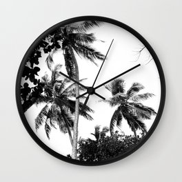 Tall trees Wall Clock