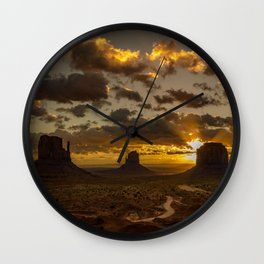Monument Valley - Vivid Sunrise Wall Clock