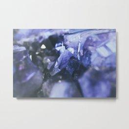 Purple amethyst Metal Print