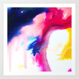 Happiness Talks Abstract Watercolor Painting Art Print