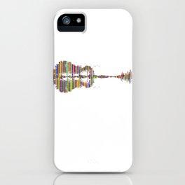 guitare paysage psychédélique musique musicale iPhone Case