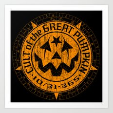 Cult of the Great Pumpkin: Alchemy Logo Art Print