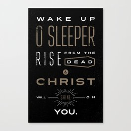 Wake Up O Sleeper Ephesians Bible Verse Typography Canvas Print