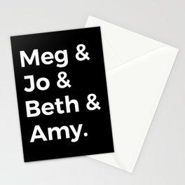 Little Women Characters I Stationery Cards