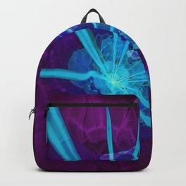 Electric Blue & Ultraviolet Fractal Sea Anemone Backpack