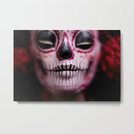 Midnight Harvest Muertita Detail Metal Print