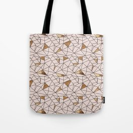 Modern abstract blush pink faux gold geometrical Tote Bag