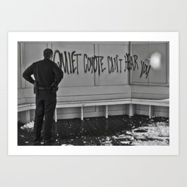 Quiet Coyote Art Print