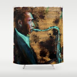 All Aboard the Coletrain Shower Curtain