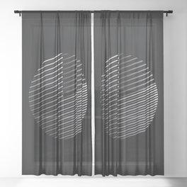 Striped Disc Sheer Curtain