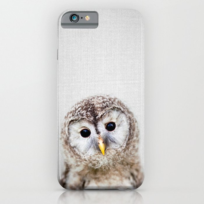 baby owl - colorful iphone case