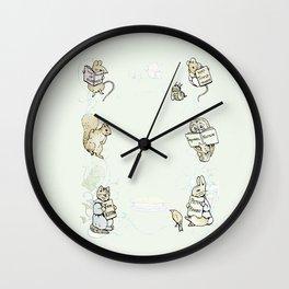 Beatrix Potter Books Wall Clock