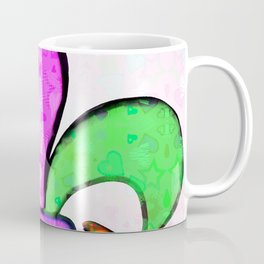 Fleur De Lis Pastel Tiny Love Hearts Coffee Mug