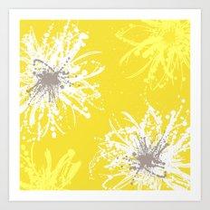 Sunflower Sprinkle Art Print