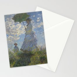 Art Woman with a Parasol Madame Monet and her son Claude Monet Stationery Cards