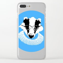 Ruth Badger Ginsburg Clear iPhone Case